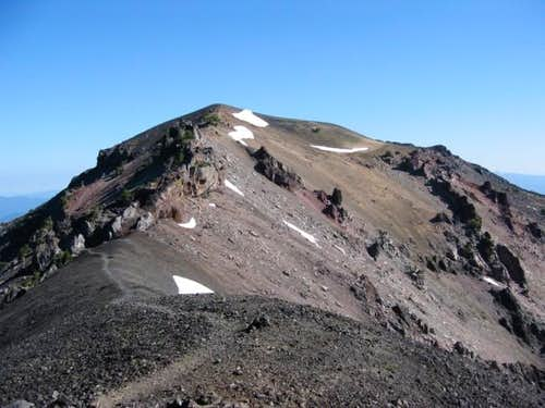 The summit ridge seen from...