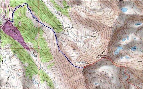 Topo Map of Drift Peak