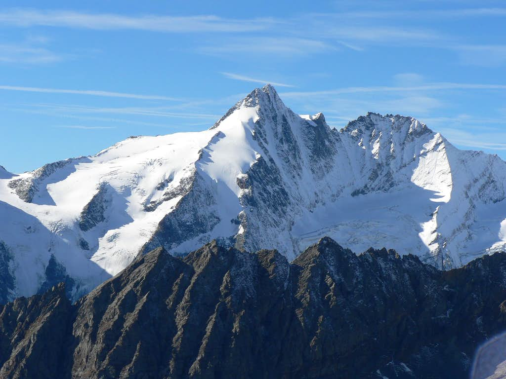 Grossglockner from the summit of Spielmann