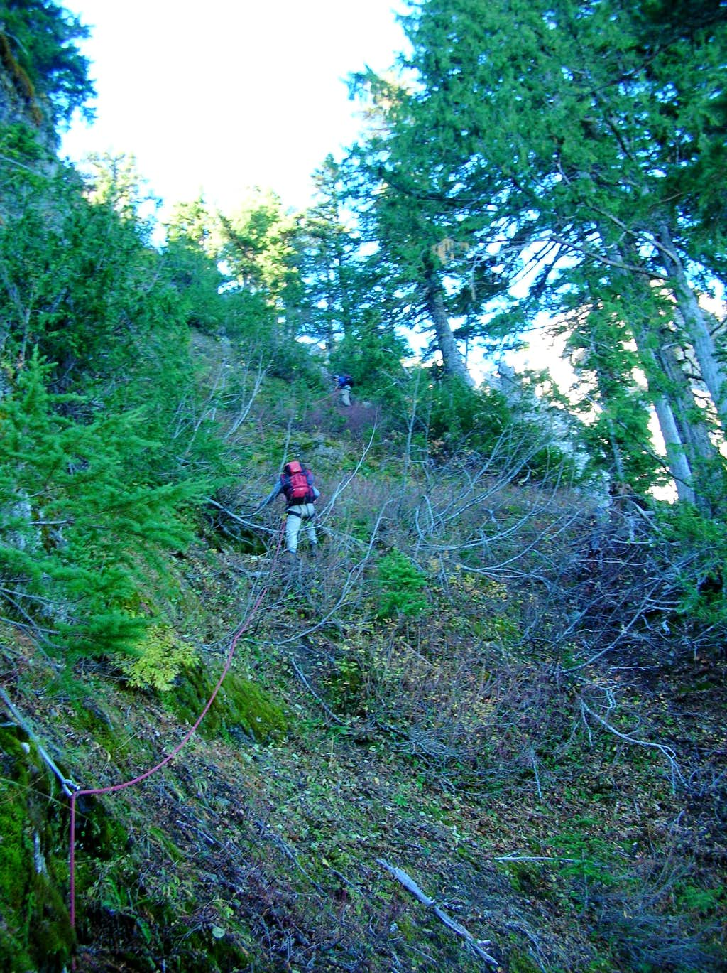 Climbing up to the ridge