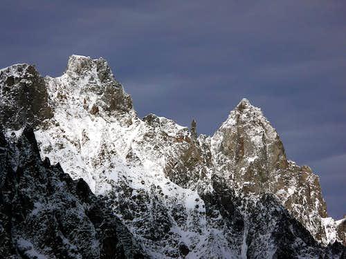 L'aiguille de Rochefort (4001 m) e il Dôme de Rochefort (4015 m)