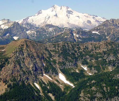 Glacier Peak from the summit...