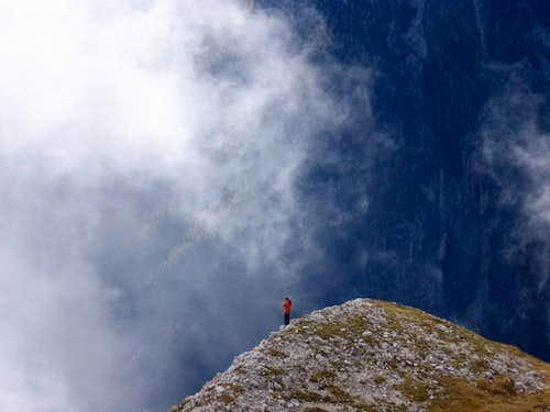 Lonely trekker