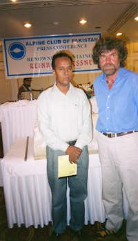 With Reinhold Messner