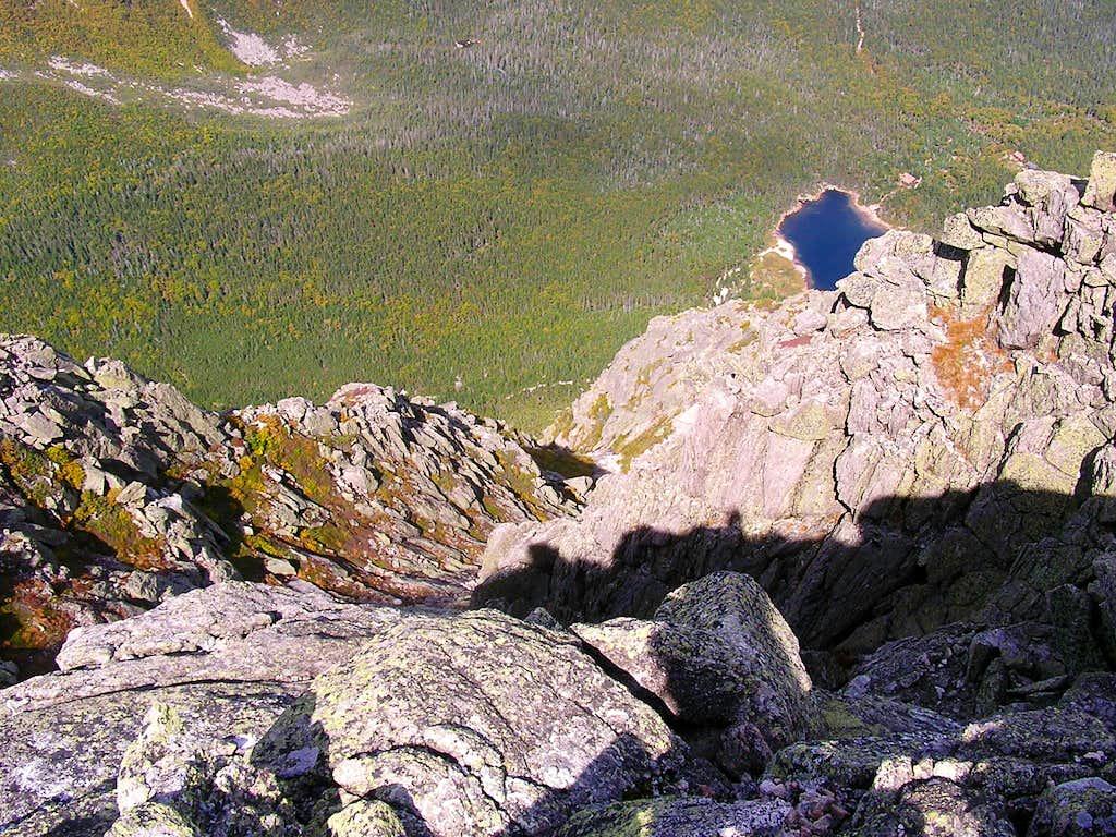 Chimney Pond and gully