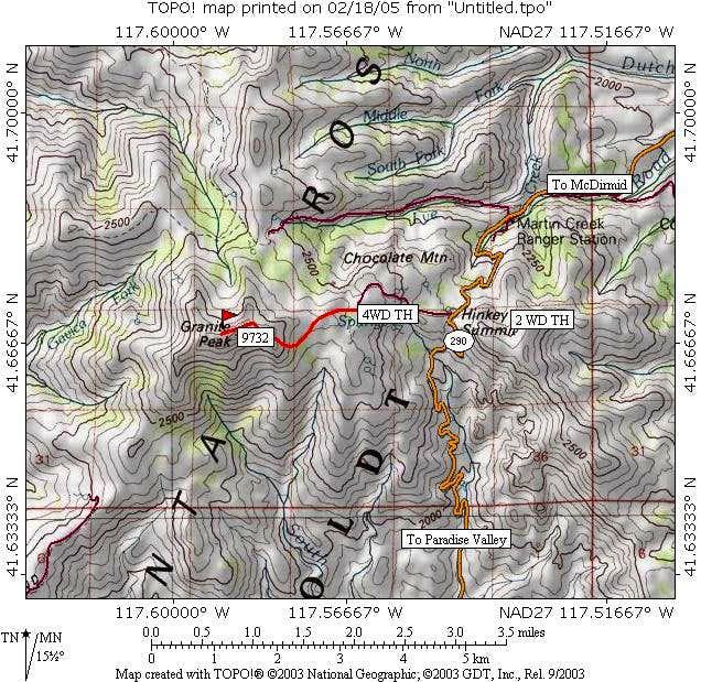 Granite Peak area