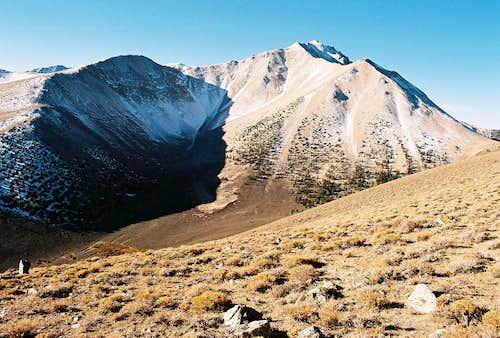 Boundary Peak and morning shadows