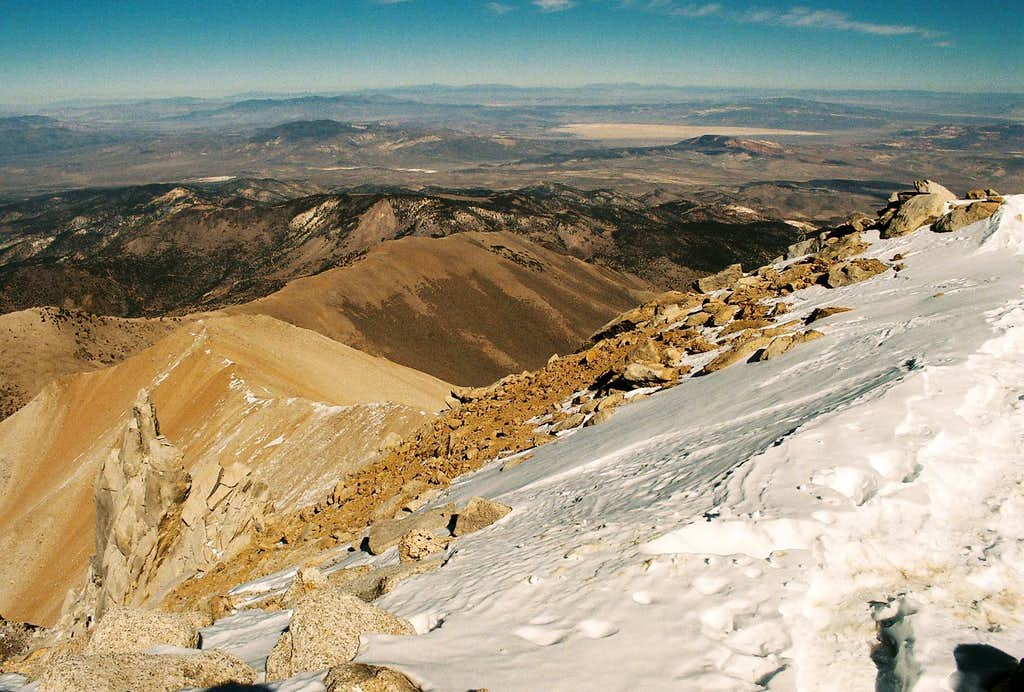 Looking east from the summit of Boundary Peak