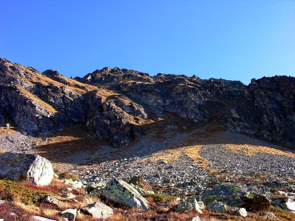Il versante ovest del mont Mary (2815 m)