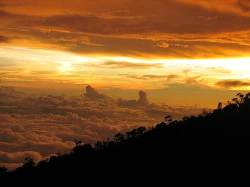 Kinabalu - Breathtaking Sunset view at hut
