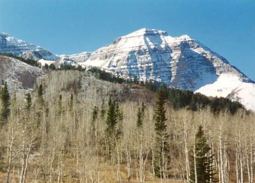 Early snows on north peak of...