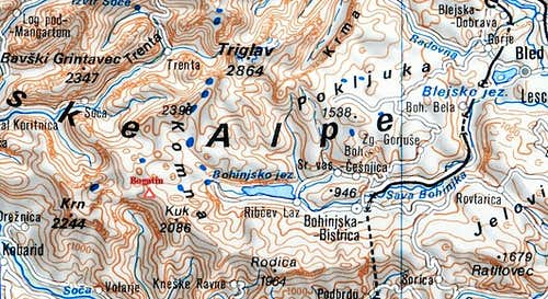 Bogatin - topo and access map