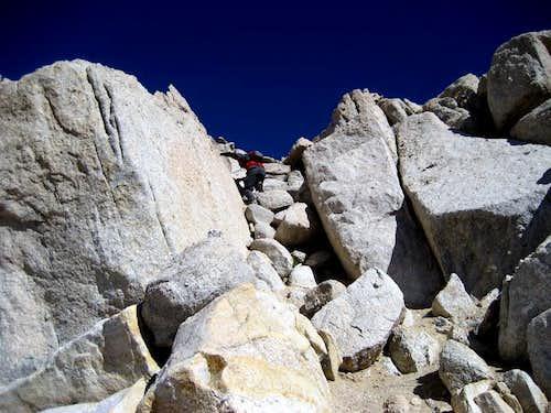 Scramble to Mt. Langley summit