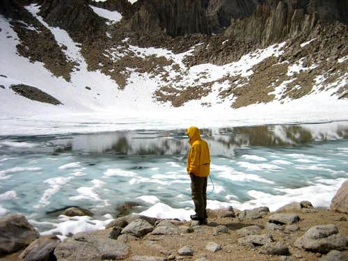 Iceberg Lake below Whitney and Russell
