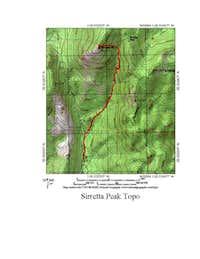 Sirretta Peak Topo Map