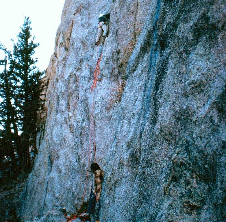 Climbing on Sundance Buttress