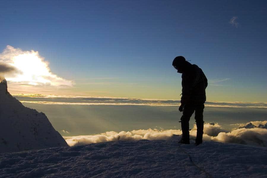 Sunrise at Pisco's Summit
