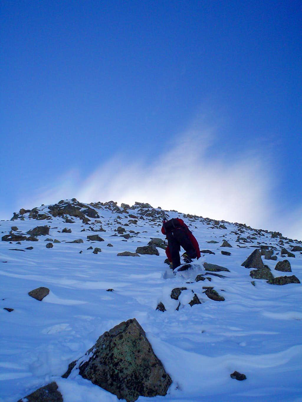 Initial Steep Portion of Villa Ridge