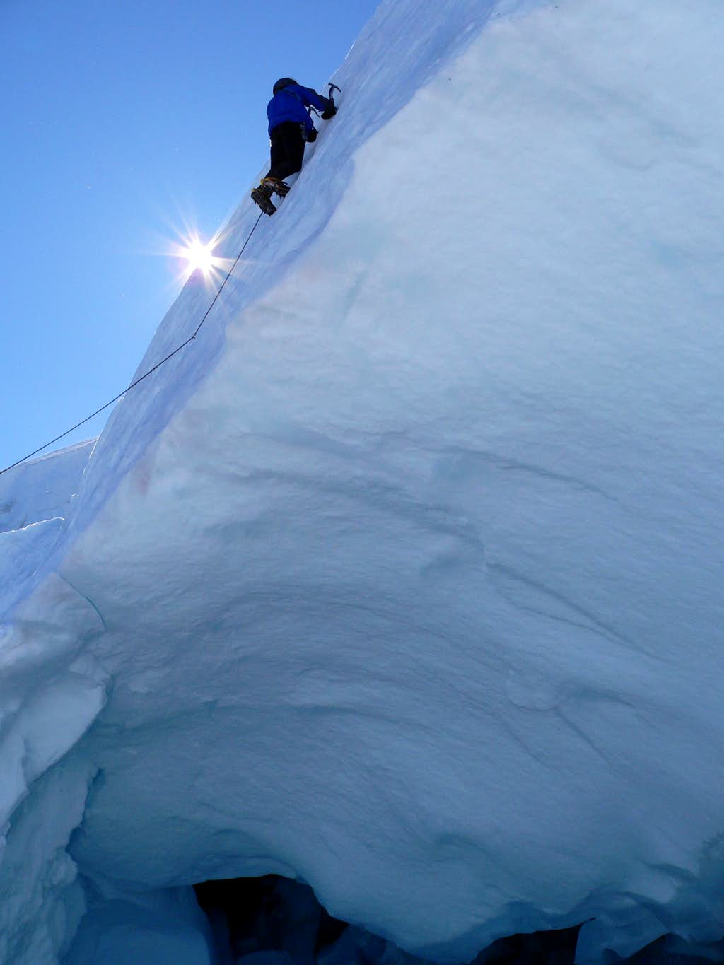 Climbing on Hotlum/Chicago glacier