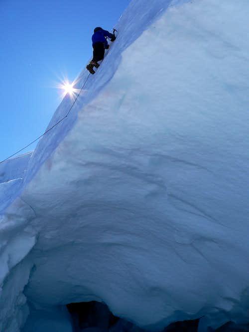 Climbing on Hotlum/Chicago glacier