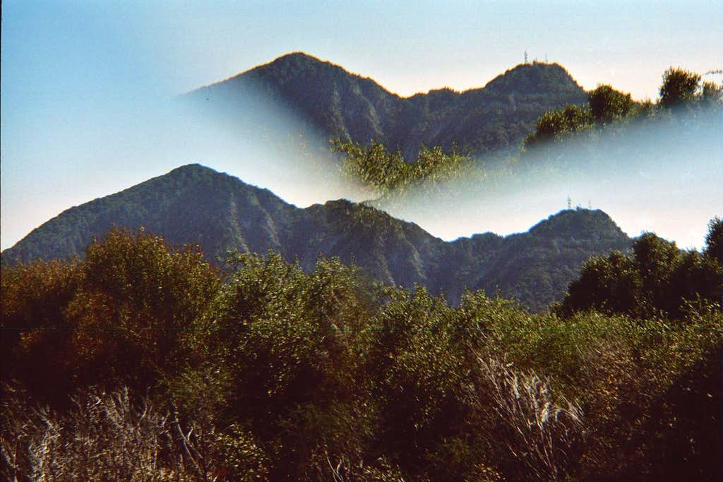 Double Vision: San Gabriel Pk (L) and Mt. Disappointment (R)