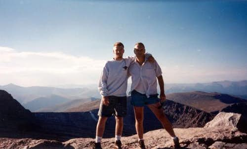 My dad & I on the summit of...
