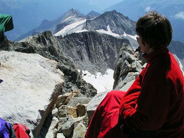 On the summit of...