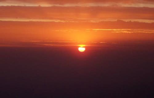 Atardecer desde el Misti (5825m) - Cord. Volcánica - Perú