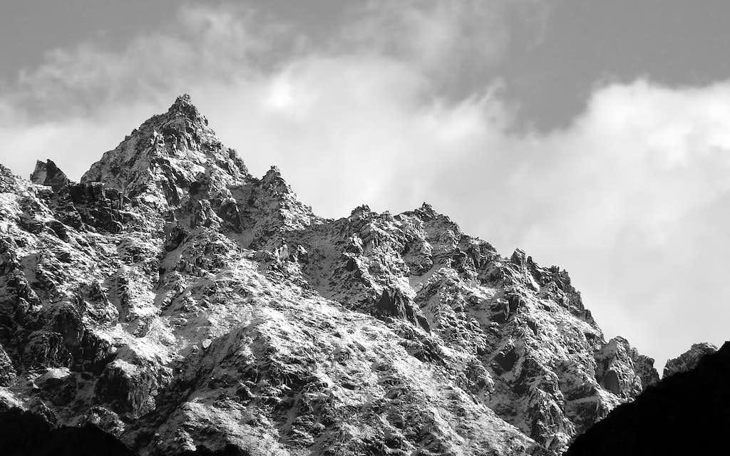 la Punta Gorret (3142 m), versante sud
