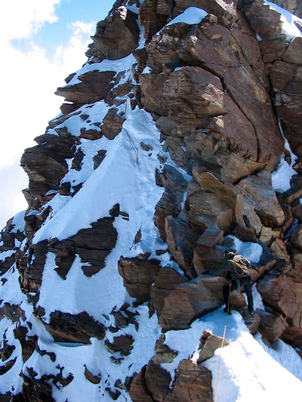 Dufourspitze - almost the top
