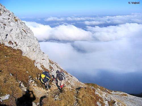 Kom Vasojevicki ascent