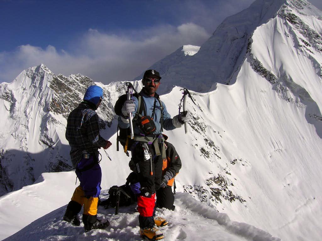 Qudrat  lead the group on 5700m peak