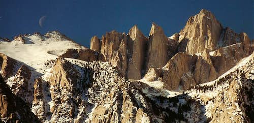 Mount Whitney, Moonset