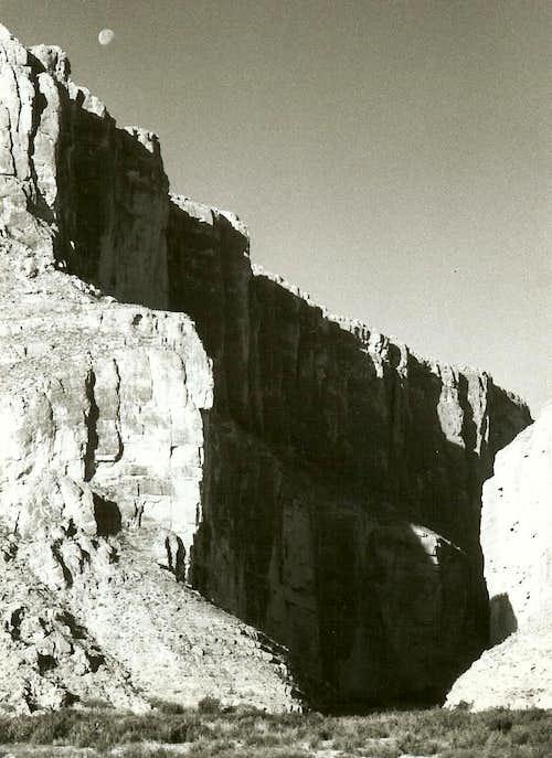 Santa Elena Canyon, Moonset