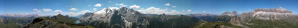 360° summit panorama Col da Cuc