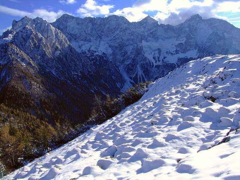 Kamnik Alps from Goli vrh