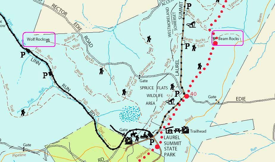 Area Trail Map