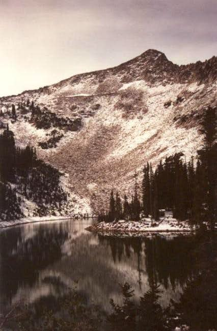 Red Pine Lake and un-named...