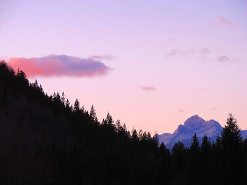 Triglav at sunset