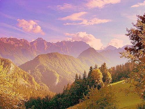 Alpine Scenery Near Solcava