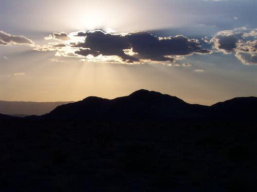 Mojave Sunset w/ Mtn. Background