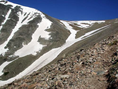 The Angel Snowfield from high...