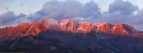 First snow on red Krn