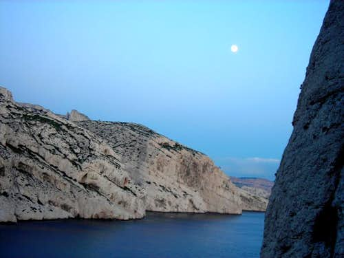 Calanque at Moonrise