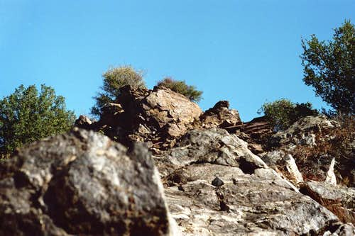 Rock Outcroppings on Mt. Lawlor's West Ridge