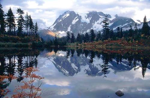 Mt. Shuksan reflected in...