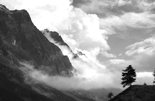 Grand Jorasses from Ferret Valley