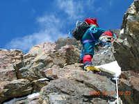 Abruzi k2 climbing route below chameny