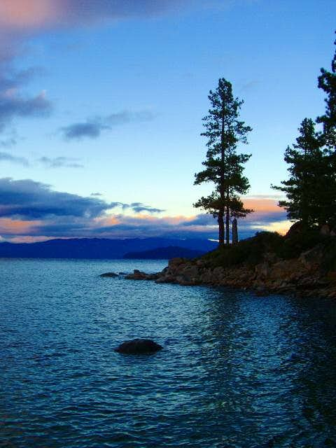 Peaceful evening at Tahoe