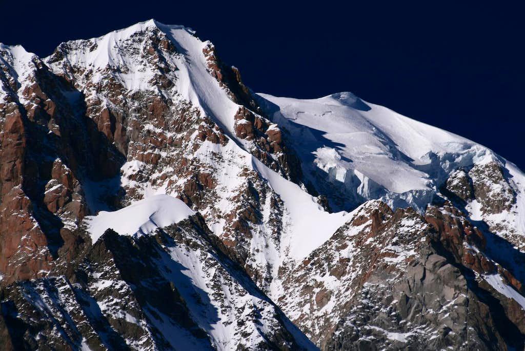 November light on Mont Blanc summit